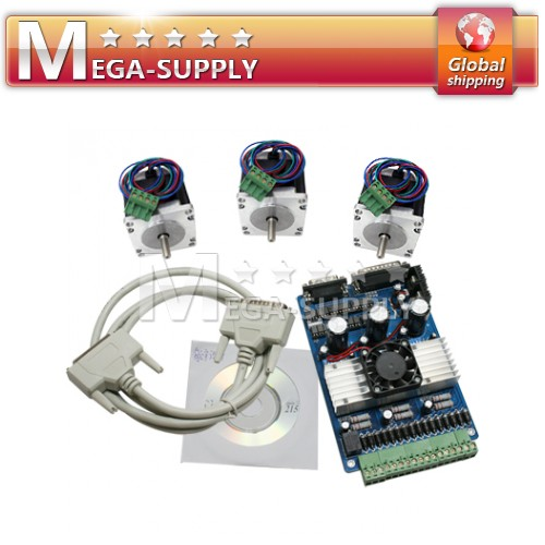 CNC Kit 3 AxisTB6560 NEMA 23 Stepper Motor Driver + Software Mach3