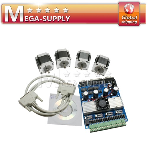 CNC Mill 4 Axis Kit NEMA23 Stepper Motor Driver + Mach3