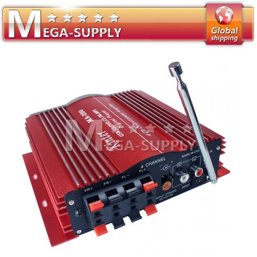 4 X 41W Power Amp Amplifier USB SD/MMC FM For Home HIFI