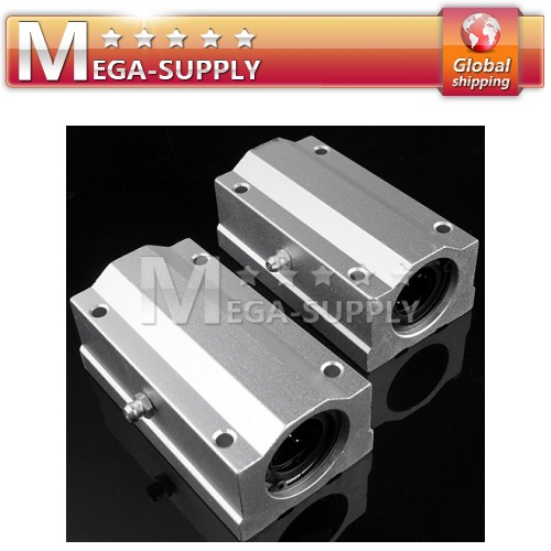 2x 20mm SBR20LUU Linear Ball Bearing Block For CNC Router Mill Machine DIY