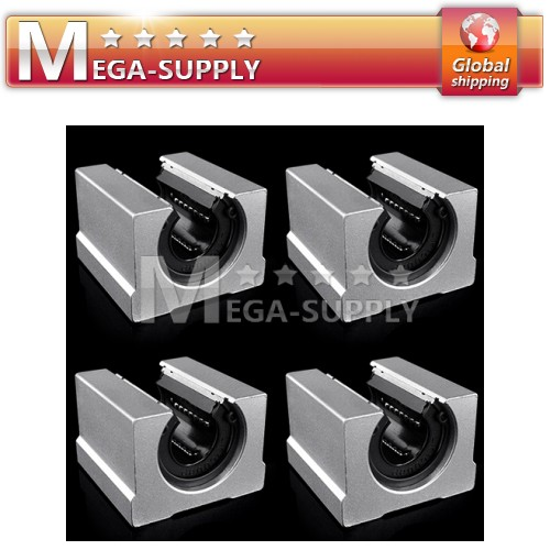 CNC Router DIY Parts SBR20UU Linear Ball Bearing Block 4 Units Shaft ID=20mm