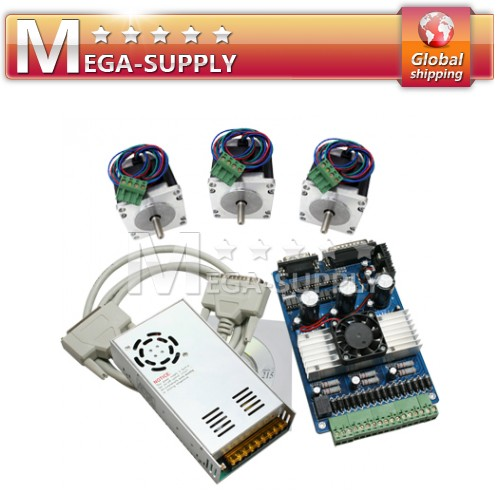 3 Axis CNC Kit NEMA34 Stepper Motor Driver 833Oz-in NEW