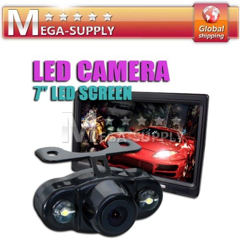 "Car Rear View Kit - 7"" LCD DVD Monitor + Backup Camera"