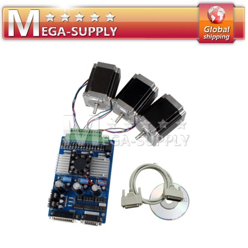3 Axis Drive + NEMA 23 Stepper Motor 263 Oz-in CNC Kit