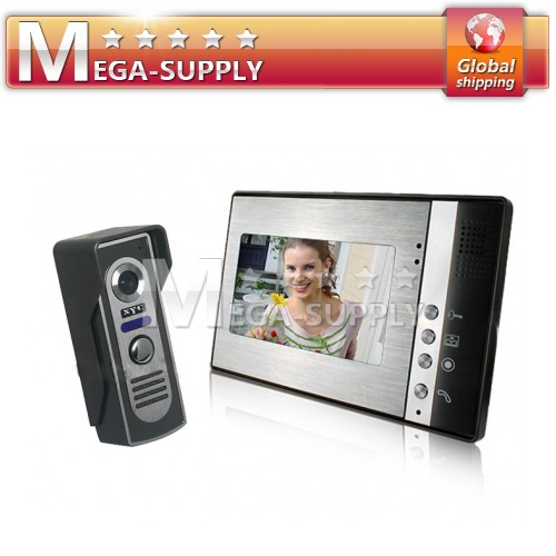 7 Inch LCD CCTV Monitor + Mini Infrared Outdoor Camera Wired Video Door Phone