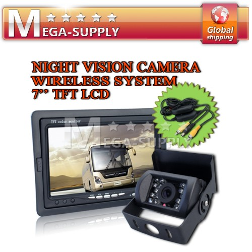 "7"" TFT LCD Rearview Monitor + Wireless Backup Camera"