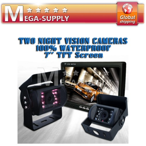 "Van Motorhome Back-up Camera Kit System 7"" Monitor +Cam"
