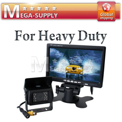 "24V 7"" LCD Rearview Monitor + Trucks Reversing Camera"
