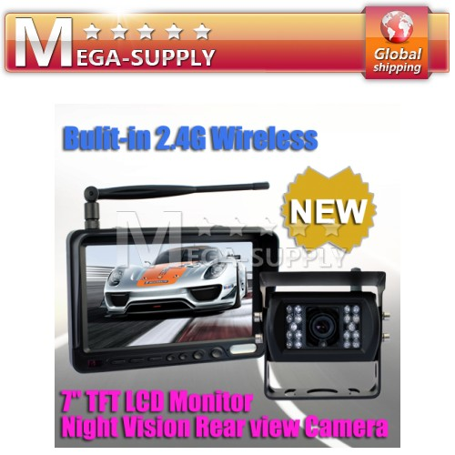 Wireless Car Reversing Rear View Camera + Monitor TRUCK