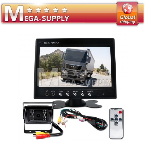 "7"" LCD Rearview Monitor + 2x CCD Wireless Backup Camera"