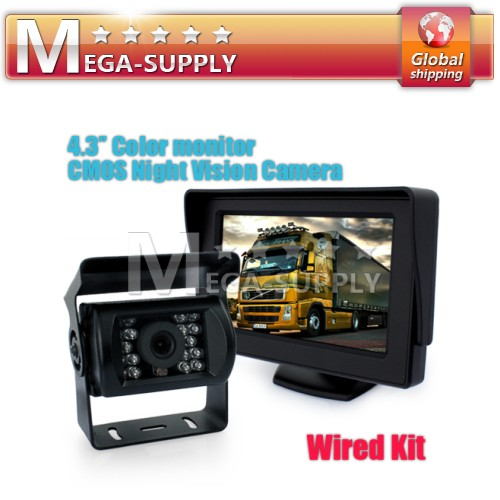 "Car Rear View Kit 4.3"" LCD Monitor Reversing Camera Bus"