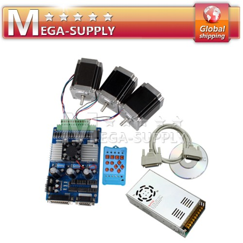 3 Axis TB6560 + Nema 23 Motor +Handle Control + 24V 15A