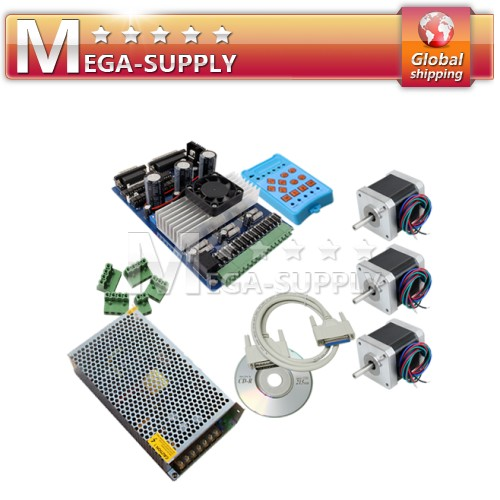 3 Axis TB6560 + Nema 17 Motor +Handle Control + 12V 10A
