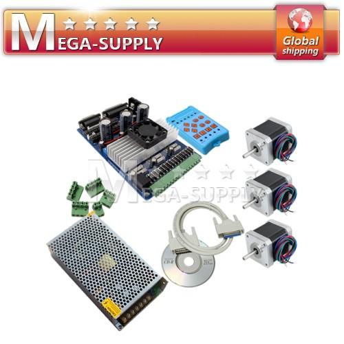 3 Axis TB6560 + Nema 17 Motor +Handle Control + 12V 10A