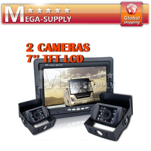 "24V Bus Truck Reversing RearView Camera +7"" LCD Monitor"