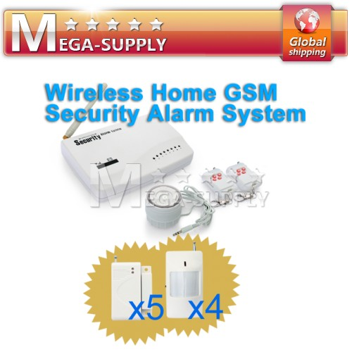 10 Zones Wired/Wireless Sensors Connection GSM SMS Alarm System Detectors
