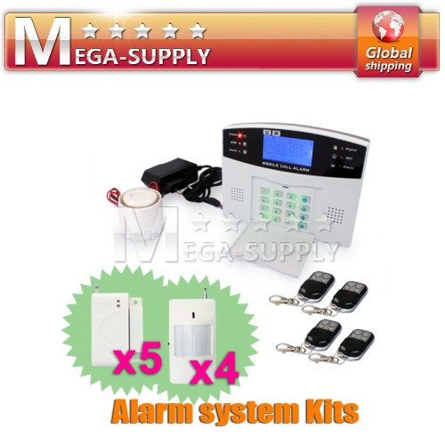 Wireless Wired GSM SMS Security Alarm System Kit PIR Door Sensor Reomte Control