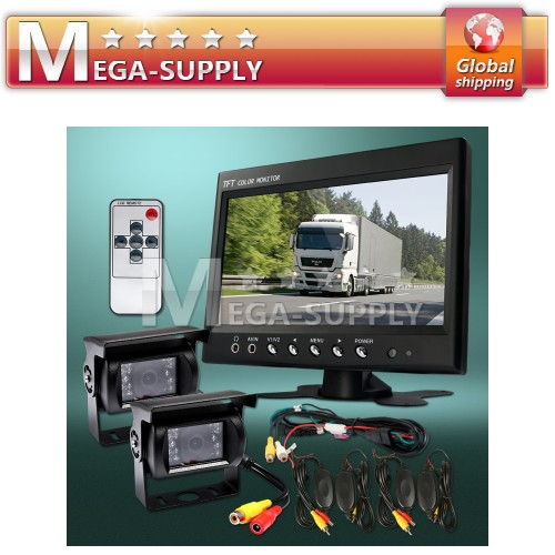 12V Wireless White CCD Reversing Camera Kit Lorry Van Rear