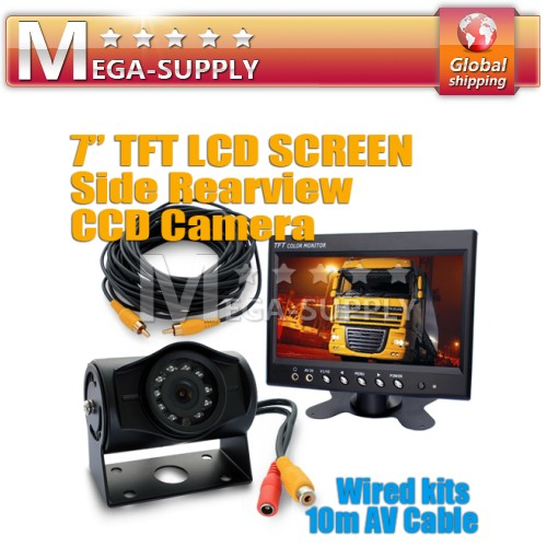 Truck Vans Motorhome Reversing Camera Kit Wateproof CCD Night Vision Backup