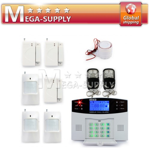 Wireless GSM SMS Intercom Security Intruder Burglar Alarm System Kit