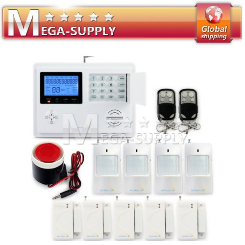 Wireless GSM SMS PSTN Intruder Alarm System Timely Arm/Disarm Remote Control