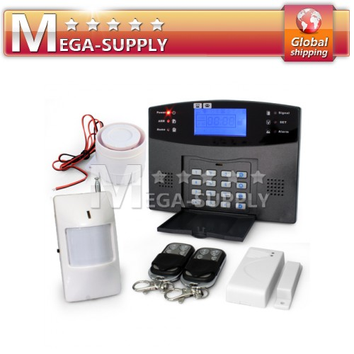 Wireless Home Alarm GSM SMS Burglar System For Garage Storage Home House