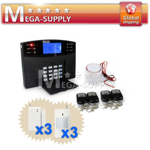 Wireless GSM SMS Security Home House Burglar Alarm System With LCD Screen