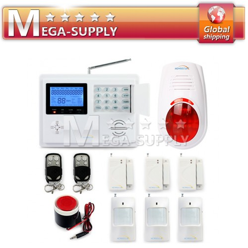Wireless GSM PSTN Auto-dial SMS Home Alarm System Four Band 850/900/1800/1900MHz
