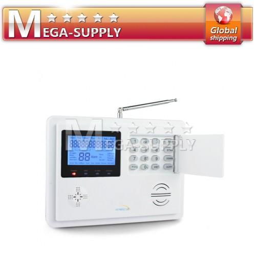 Wireless Home GSM PSTN Telephone Security Burglar Alarm System Water Detector