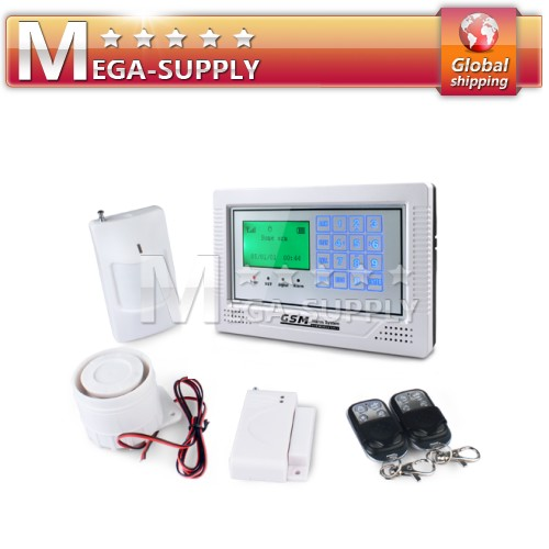 Wireless Wired GSM Home Intruder Security Alarm System LCD Touch Keypad