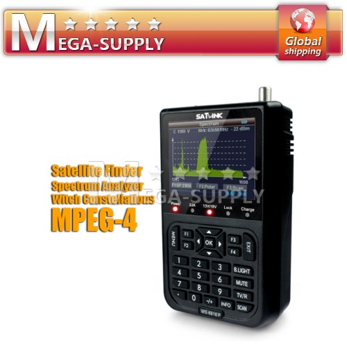 DVB-S2 Satellite Finder Meter WS-6918P+ Real Time Spectrum Analyzer + 3.5 Screen