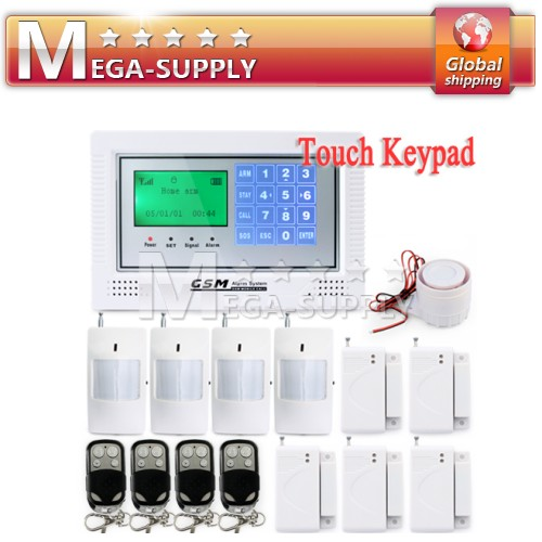 Wireless Wired GSM Home Store Office Security Alarm System LCD Touch Keypad