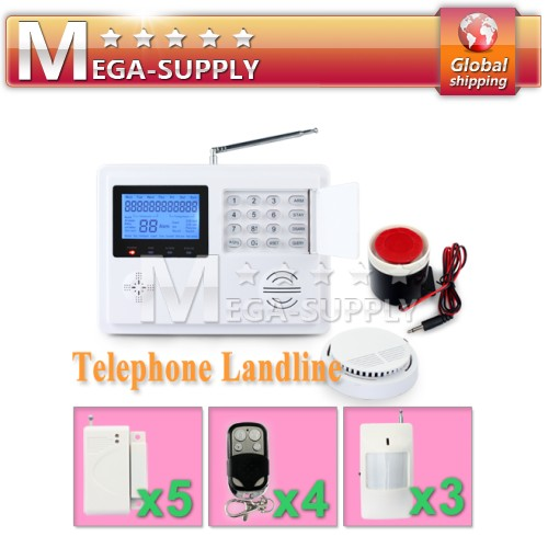 Wireless PSTN System House Home Burglar Intruder Alarm System Smoke Sensor