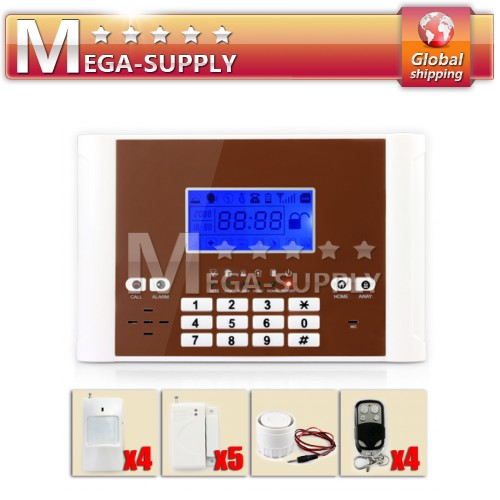Triple Bands 900/1800/1900MHz GSM SMS Home Security Alarm System NEW Design