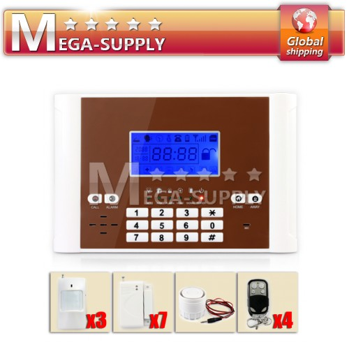 Wireless GSM TEXT Security Alarm System Timely Control 6 Wired Zones 12V Output