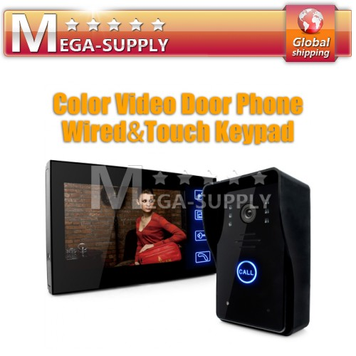 "Door Phone Doorbell Touch Key 7"" Lcd Video With Ir Camera Of Home Entry Intercom"