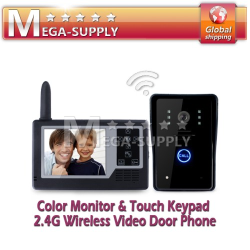 "New 3.5"" Screen 2.4G Wireless Video Door Phone Doorbell Intercom With IR Camera"