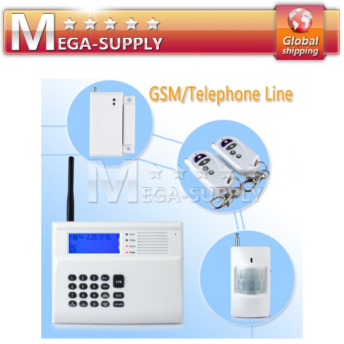 Wireless Home GSM PSTN Telephone Security Burglar Alarm System Built-in Siren
