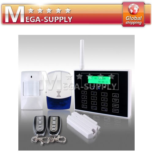 Wireless GSM TEXT Touch Screen Home Burglar Alarm System Can Set 5 Alarm Number