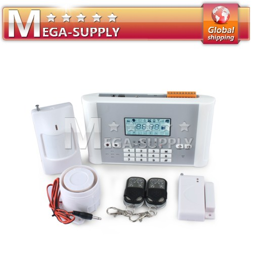 Wireless GSM GSM TEXT Home Alarm System Phone Long-distance Control Arm/Disarm
