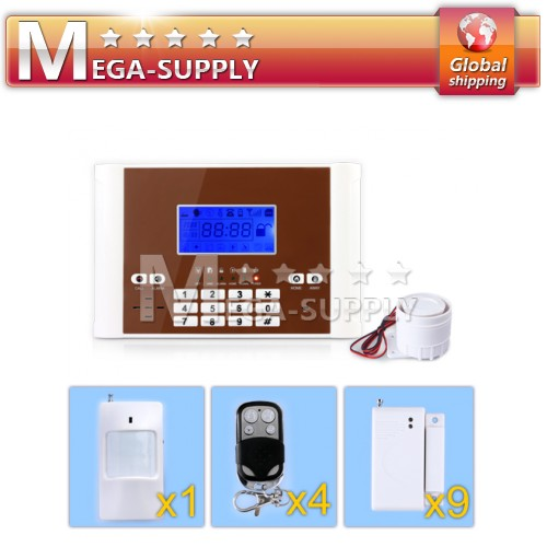 900/1800/1900MHz GSM SIM SMS TEXT Security Home Alarm System 99 Wireless Zones