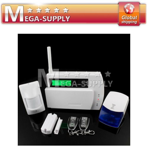 Wireless GSM Sim SMS Alarm Security System 29 Defense Zones Maximun 116 Sensors