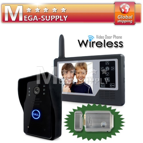 Wireless DoorPhone Intercom Doorbell Home Security Night Vision Electronic Lock