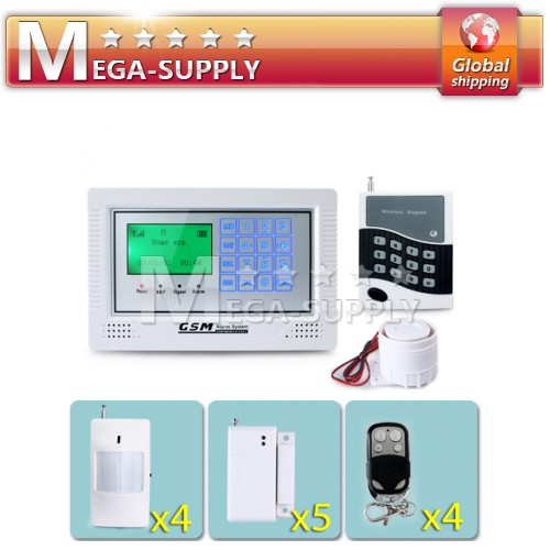 Touch Keypad Screen GSM Alarm System Easy Operation + 1 Wireless Password Keypad