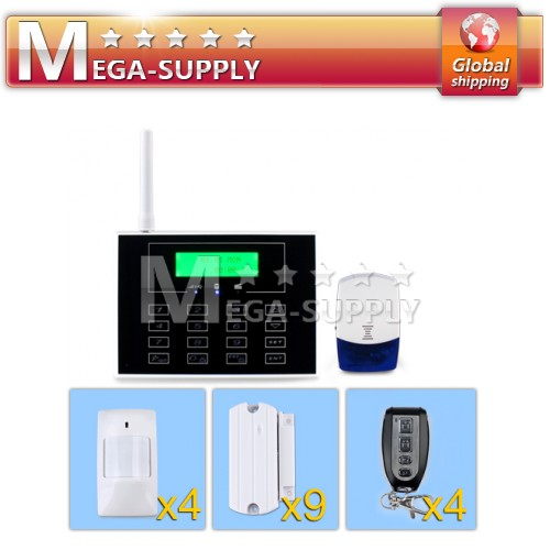 GSM&PSTN Home Security System With Touch Screen Triple Bands Worldwide Usage