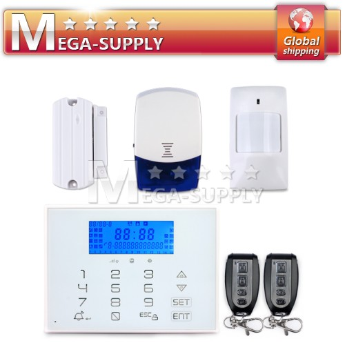 Wireless PSTN Home Alarm System Touch Keypad Can Store Maximun 60 Sensors
