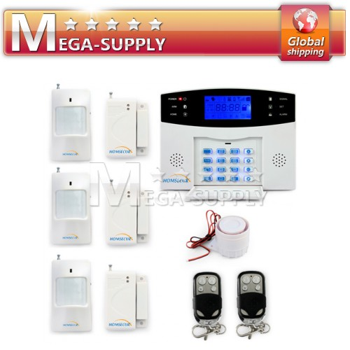 Wireless Gsm Sms Intruder Alarm System P.i.r Gap Detector Kit