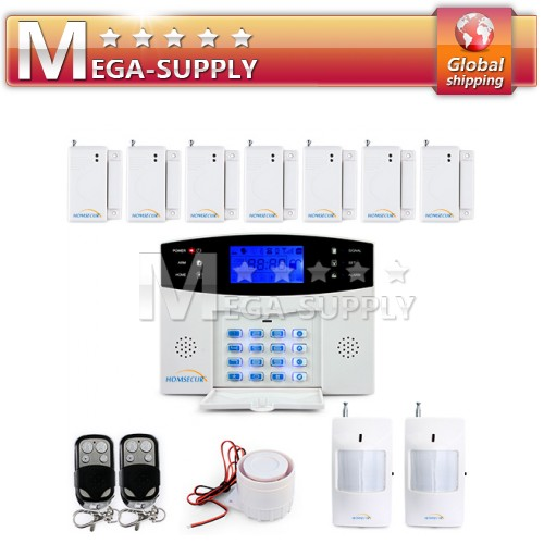 106 Wired/Wireless Defense Zones GSM SMS Alarm System + Door/Window Gap Sensor*7
