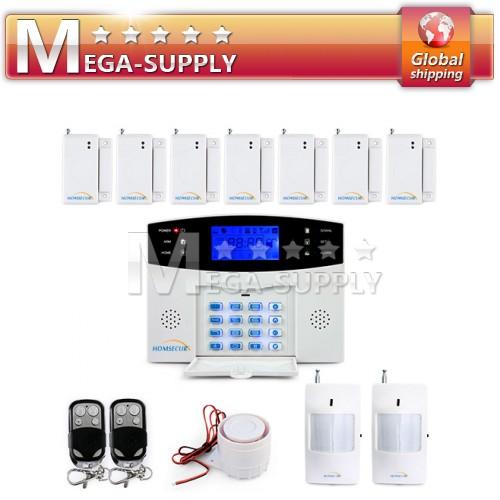 High Sensitivity Alarm System LCD Scrn + Sensors PIR*2 + Door/Window*7+ Remote*2