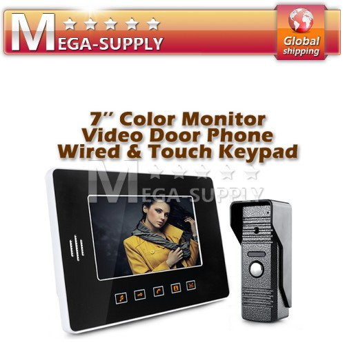 "Wired 7"" Video Door Phone Intercom Doorbell Home Security Ir Camera Monitor"